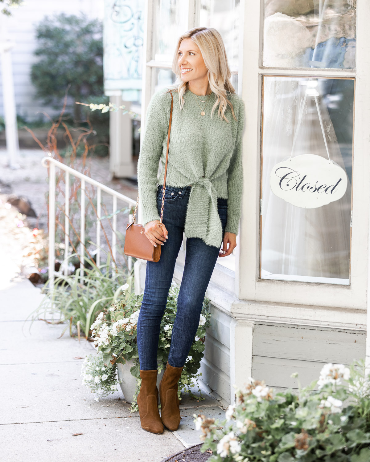 Cropped Sweater and suede booties The Glamorous Gal