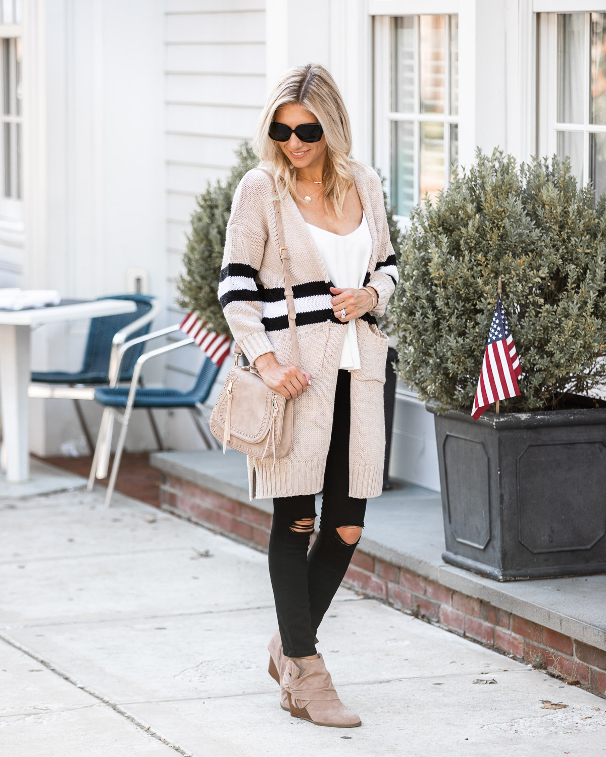 casual fall outfit from goodnight macaroon The Glamorous Gal