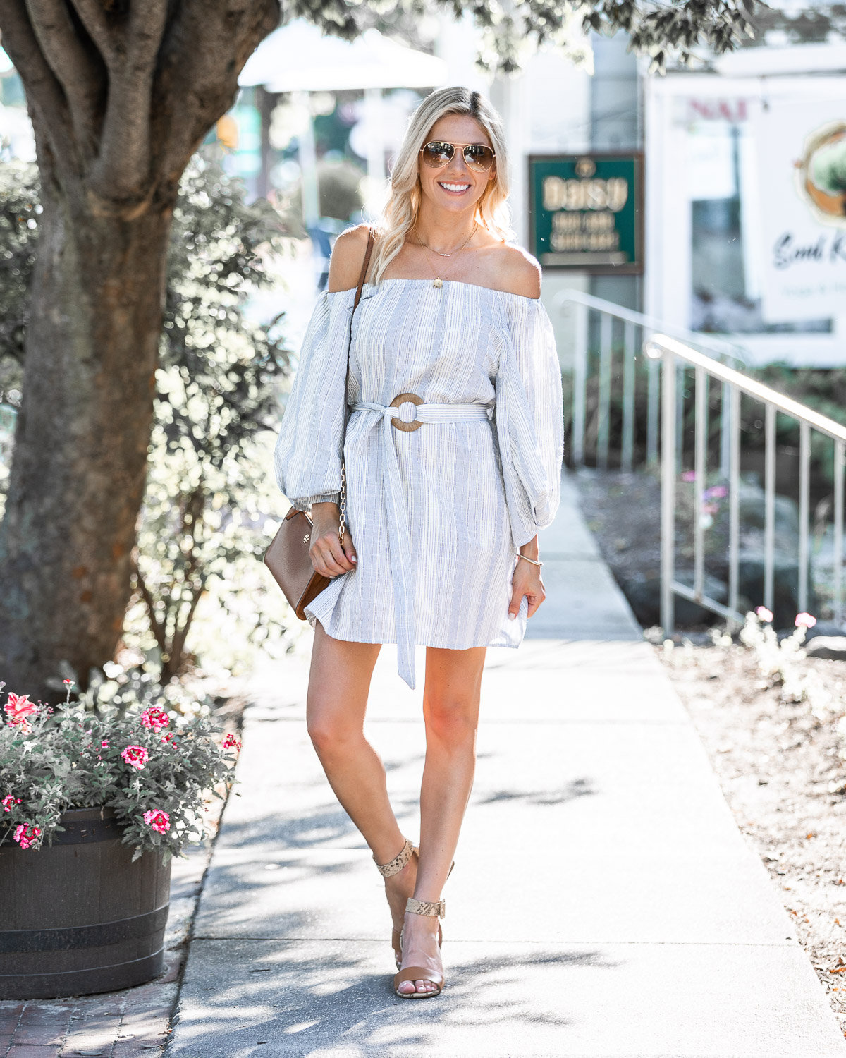 casual off the shoulder dress from chicwish The Glamorous Gal