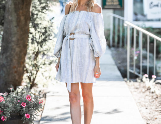 casual striped dress under $50 The Glamorous Gal