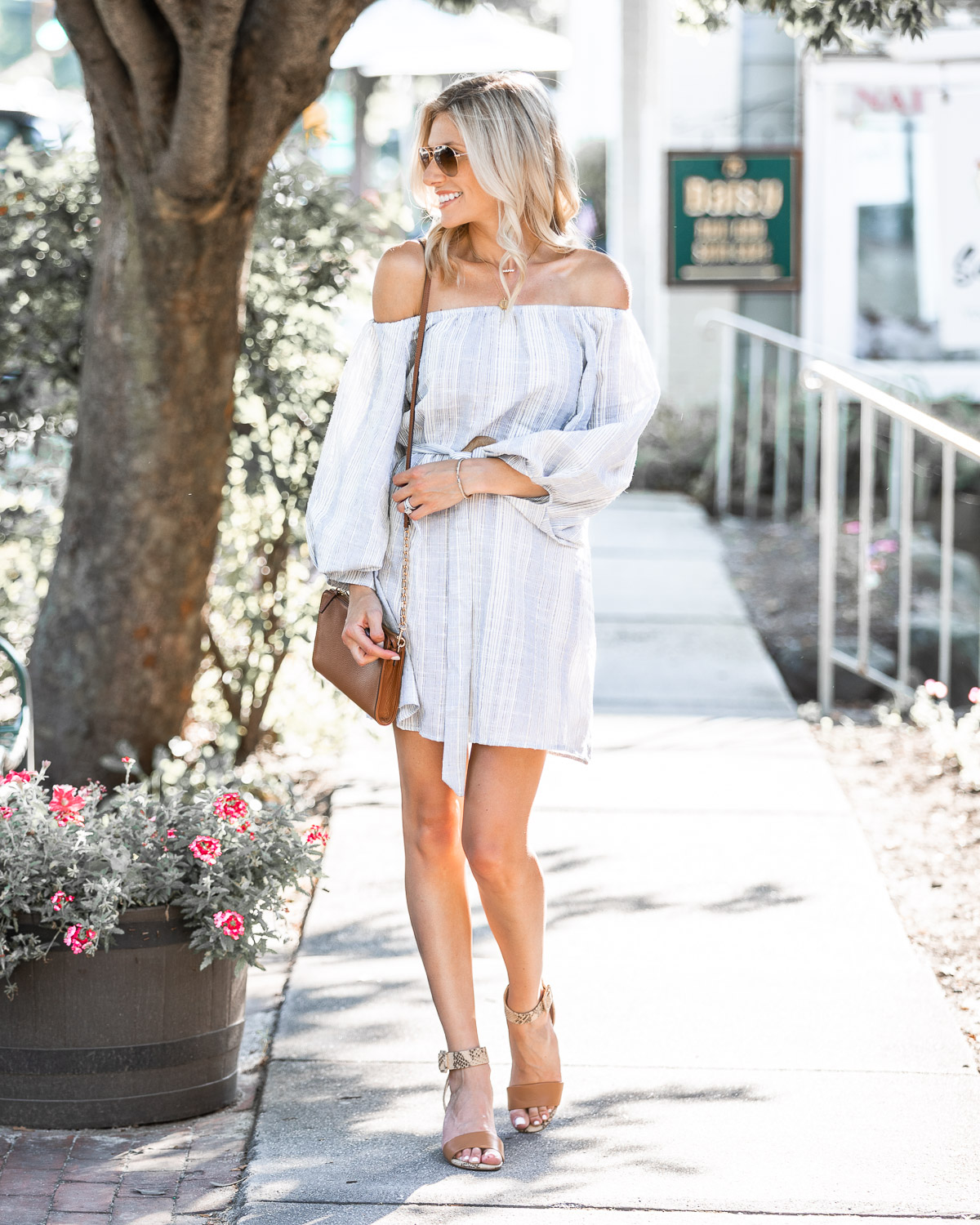 long sleeve off the shoulder top for fall The Glamorous Gal