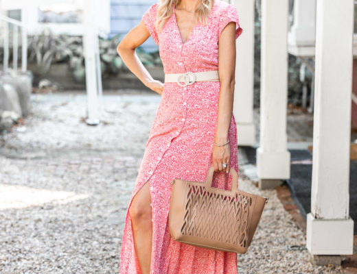 maxi dress with button up detail The Glamorous Gal