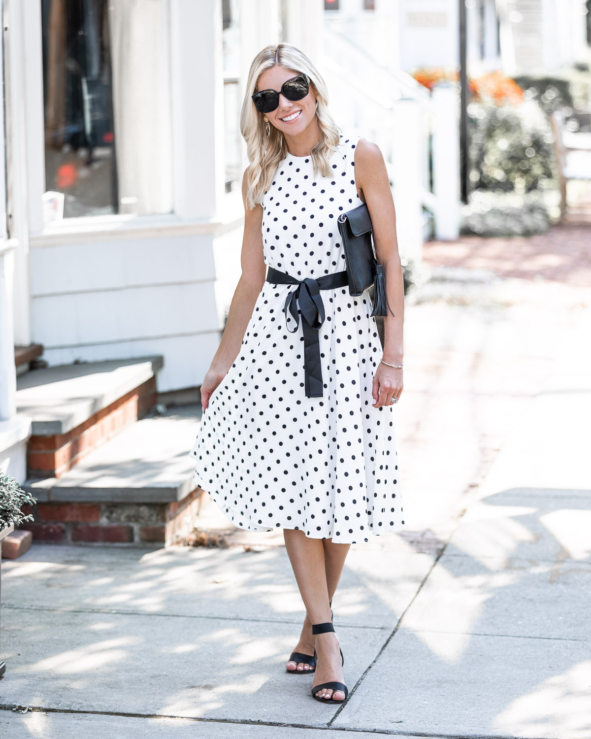 polka dot midi dress The Glamorous Gal