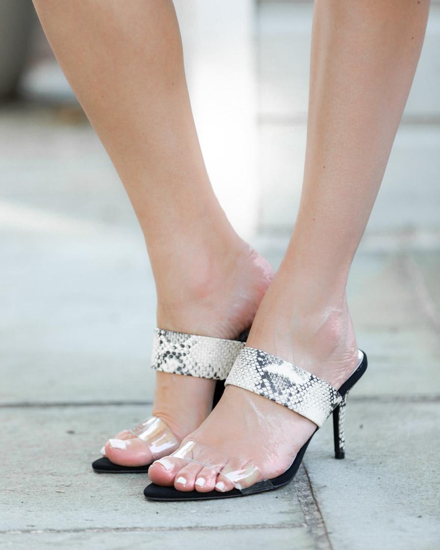 snake print kitten heels The Glamorous Gal