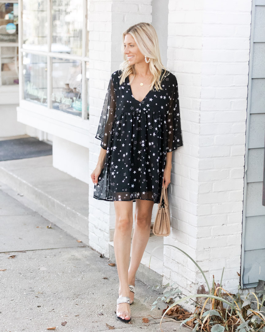 the cutest star print dress from VICI The Glamorous Gal