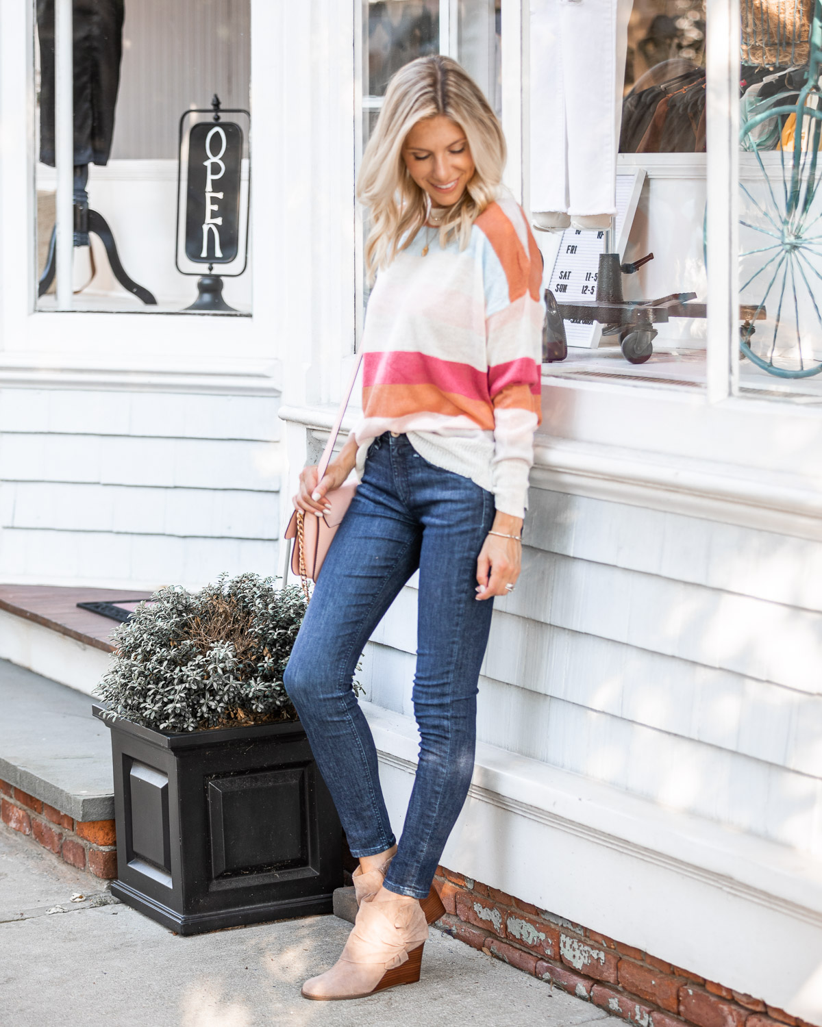 the perfect early fall sweater under $50 The Glamorous Gal