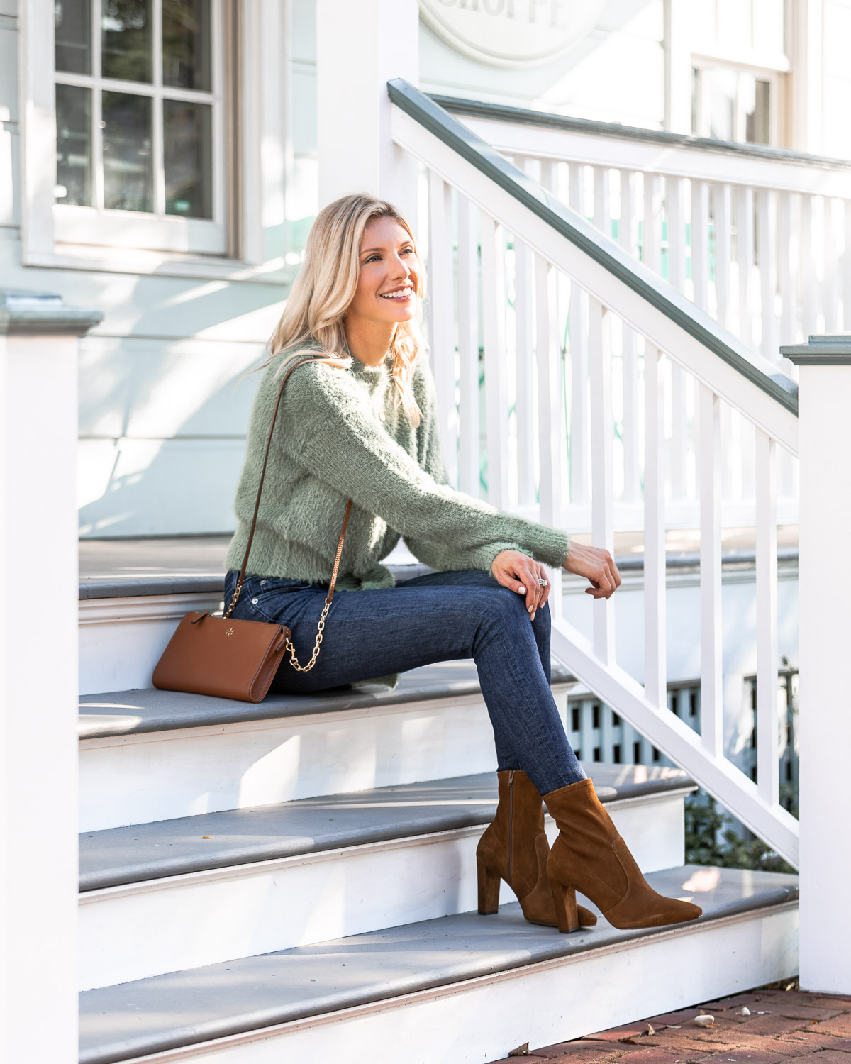 the perfect suede booties from Inez The Glamorous Gal