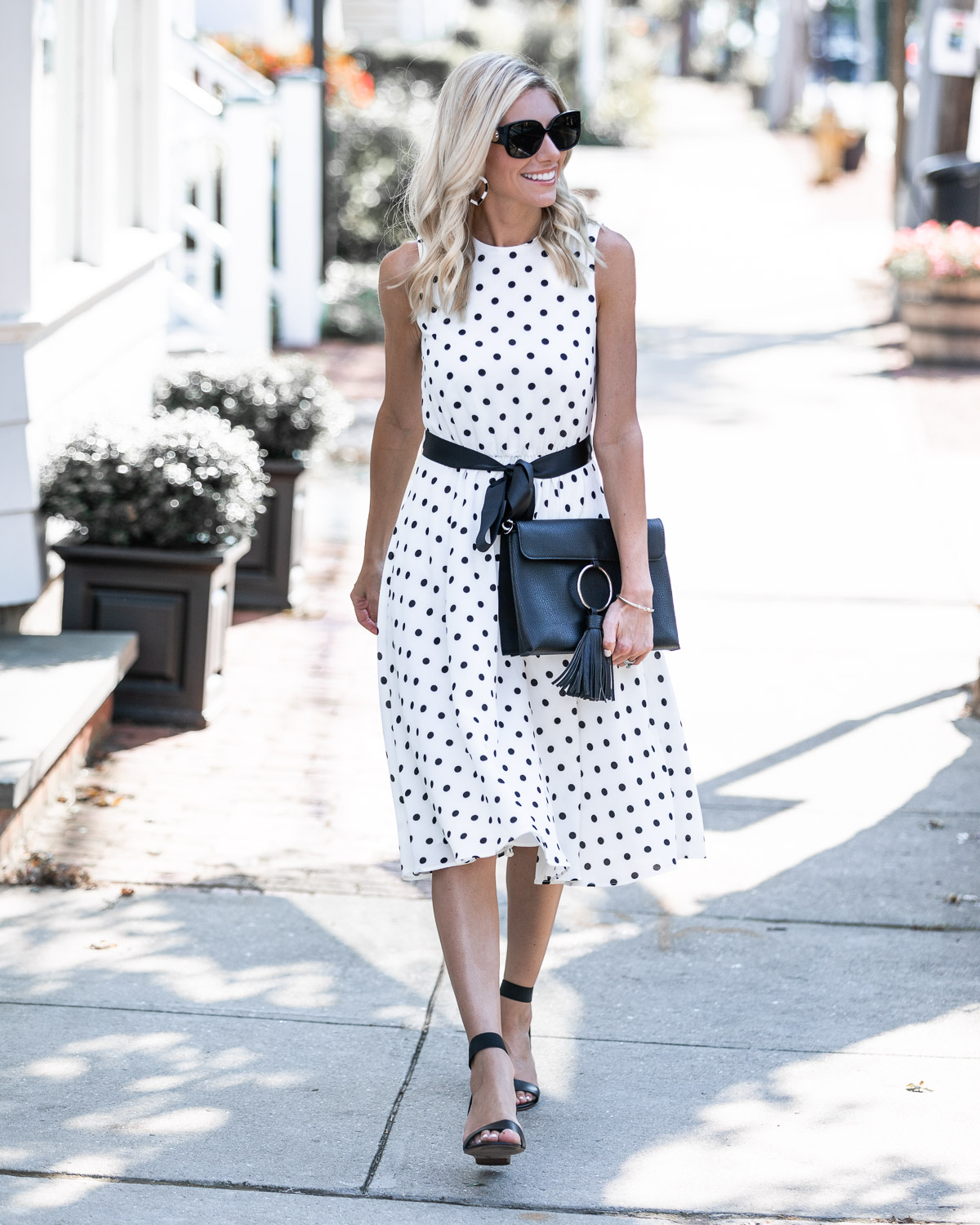 the perfect summer to fall transition dress The Glamorous Gal