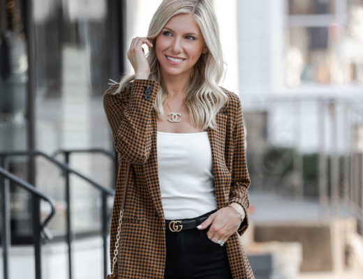 add a blazer to a summer bodysuit to transition to fall The Glamorous Gal