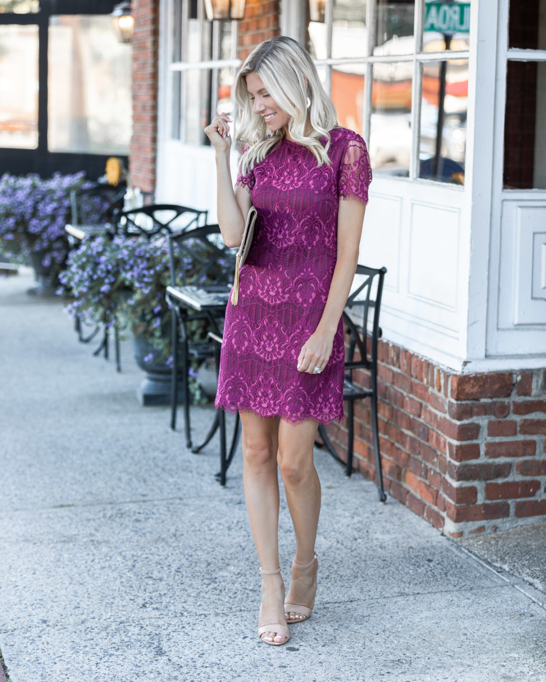 cap sleeve fall dress from kensie The Glamorous Gal