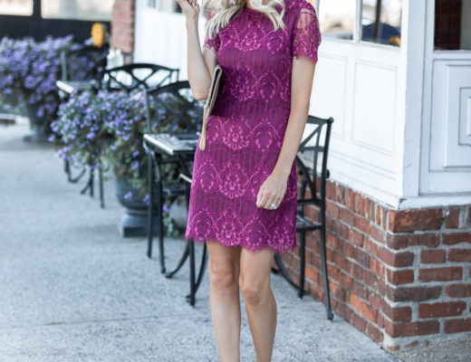 cap sleeve fall dress from kensie The Glamorous Gal