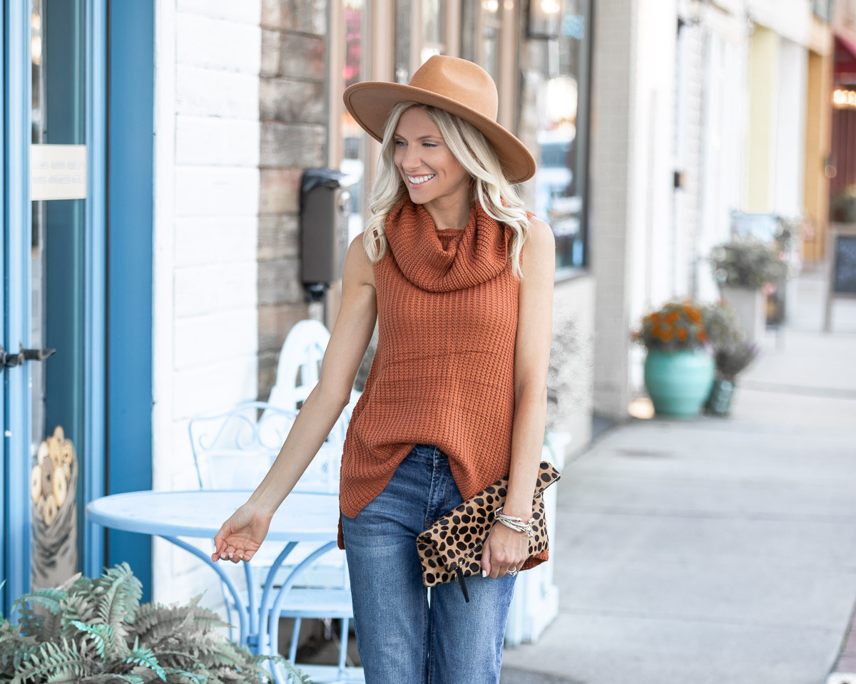 casual fall sweater and jeans The Glamorous Gal