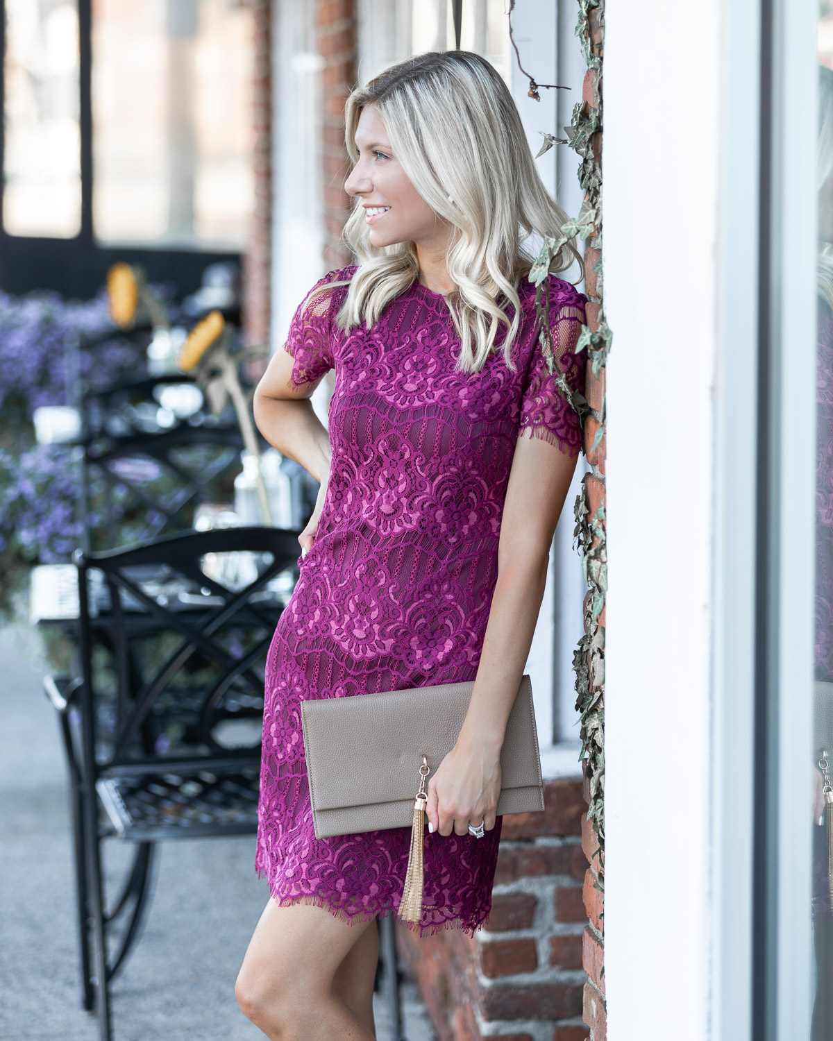 fall wedding guest dress from kensie The Glamorous Gal