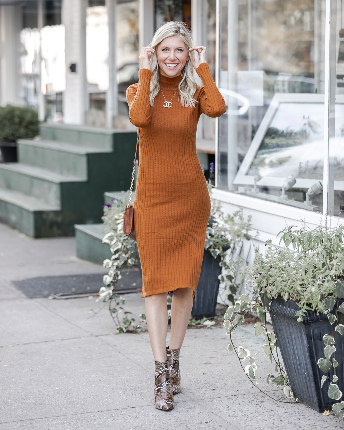fun and flirty ribbed sweater dress The Glamorous Gal