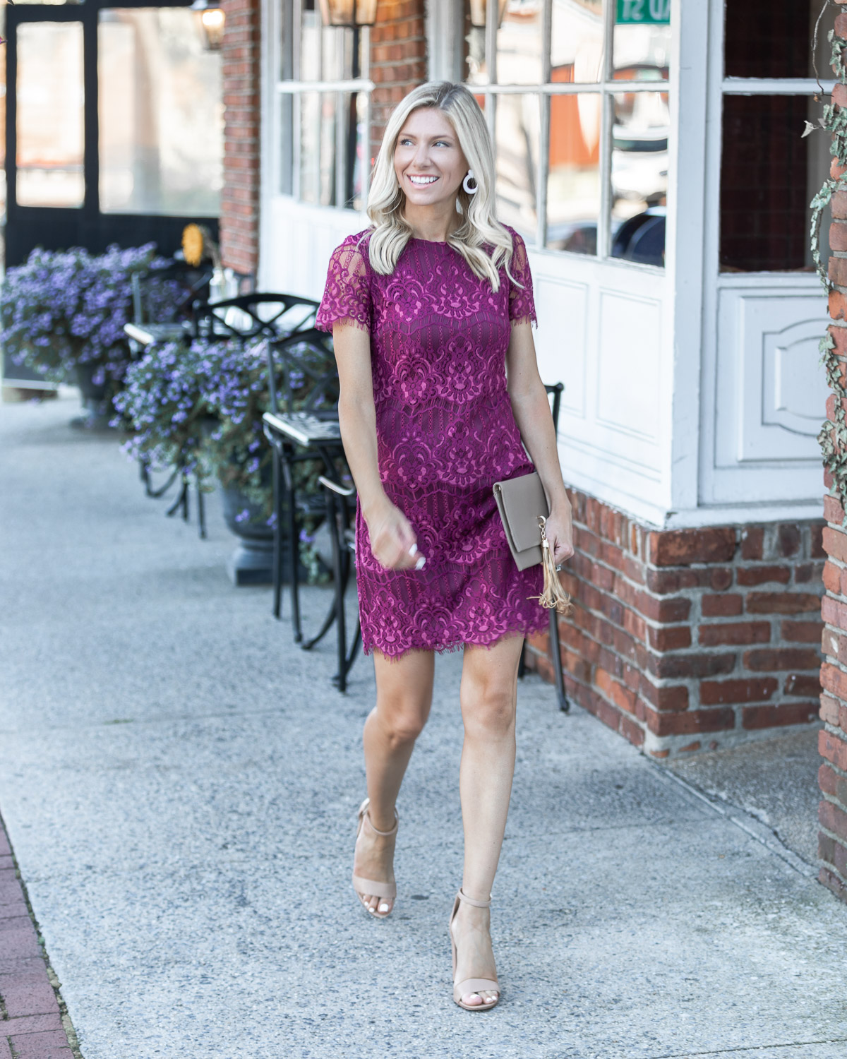 lace mini dress from kensie The Glamorous Gal