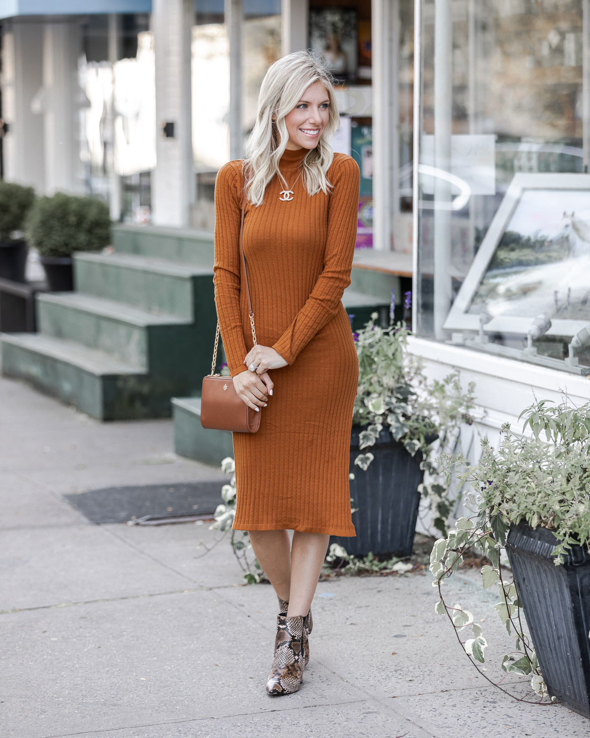 sophisticated fall sweater dress The Glamorous Gal