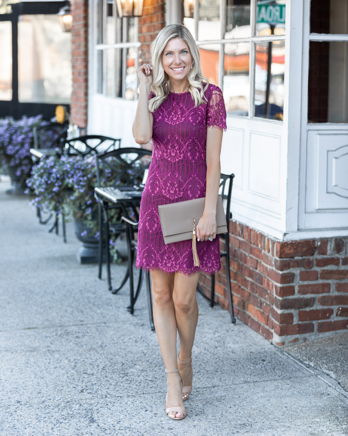 the perfect wine colored fall dress The Glamorous Gal