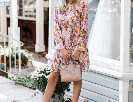Fall Floral Dress The Glamorous Gal