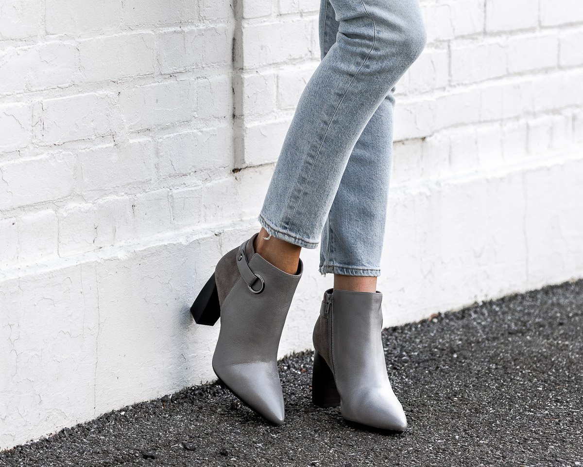 aerosoles gray booties The Glamorous Gal