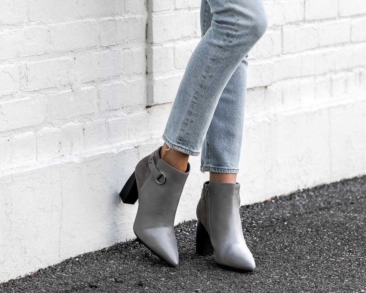 aerosoles gray booties The Glamorous Gal