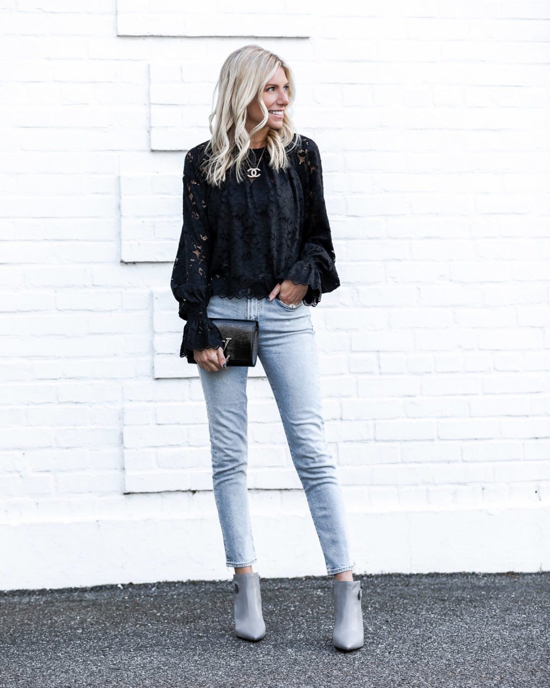 black and grey outfit details for fall The Glamorous Gal