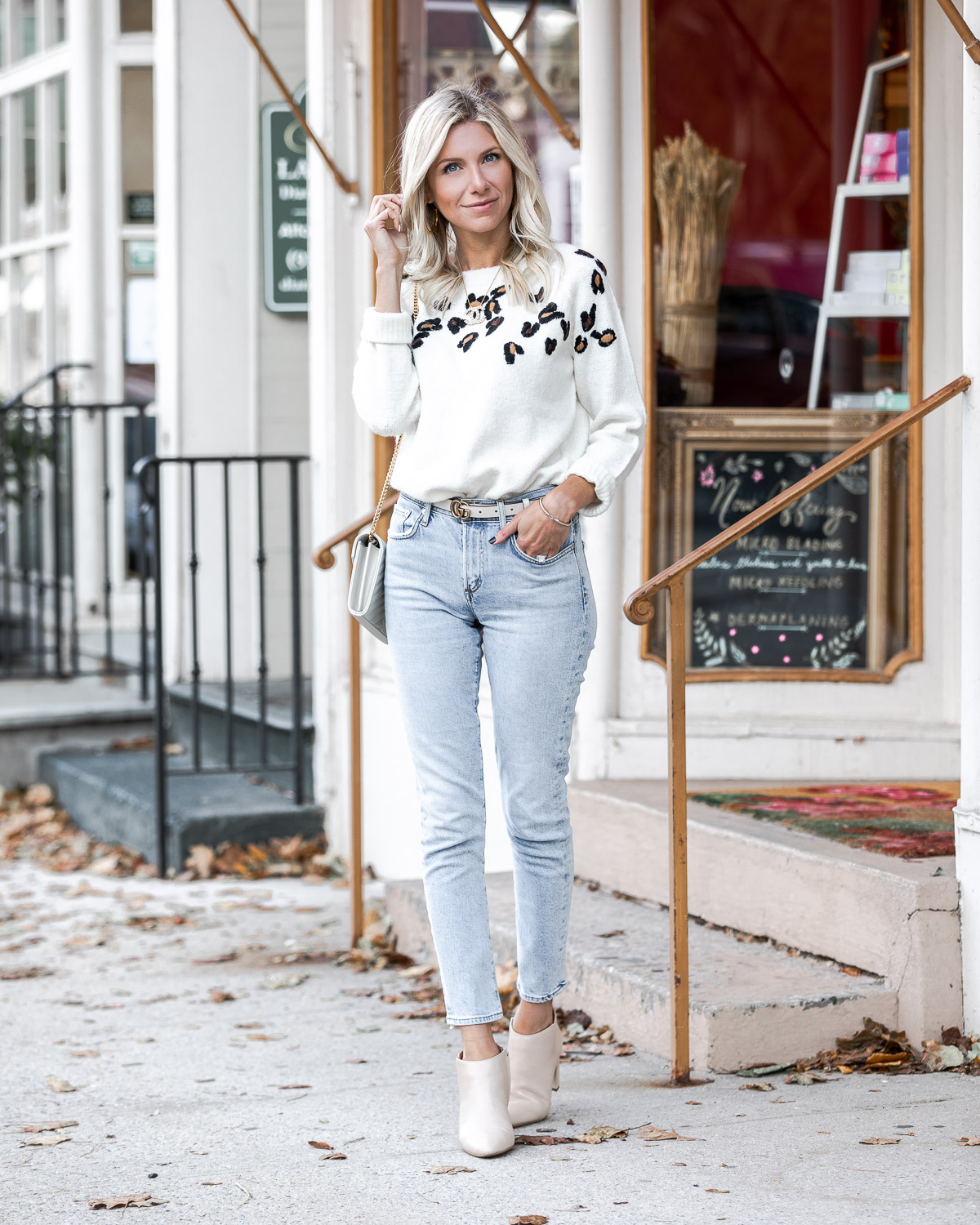 cozy fall leopard sweater The Glamorous Gal