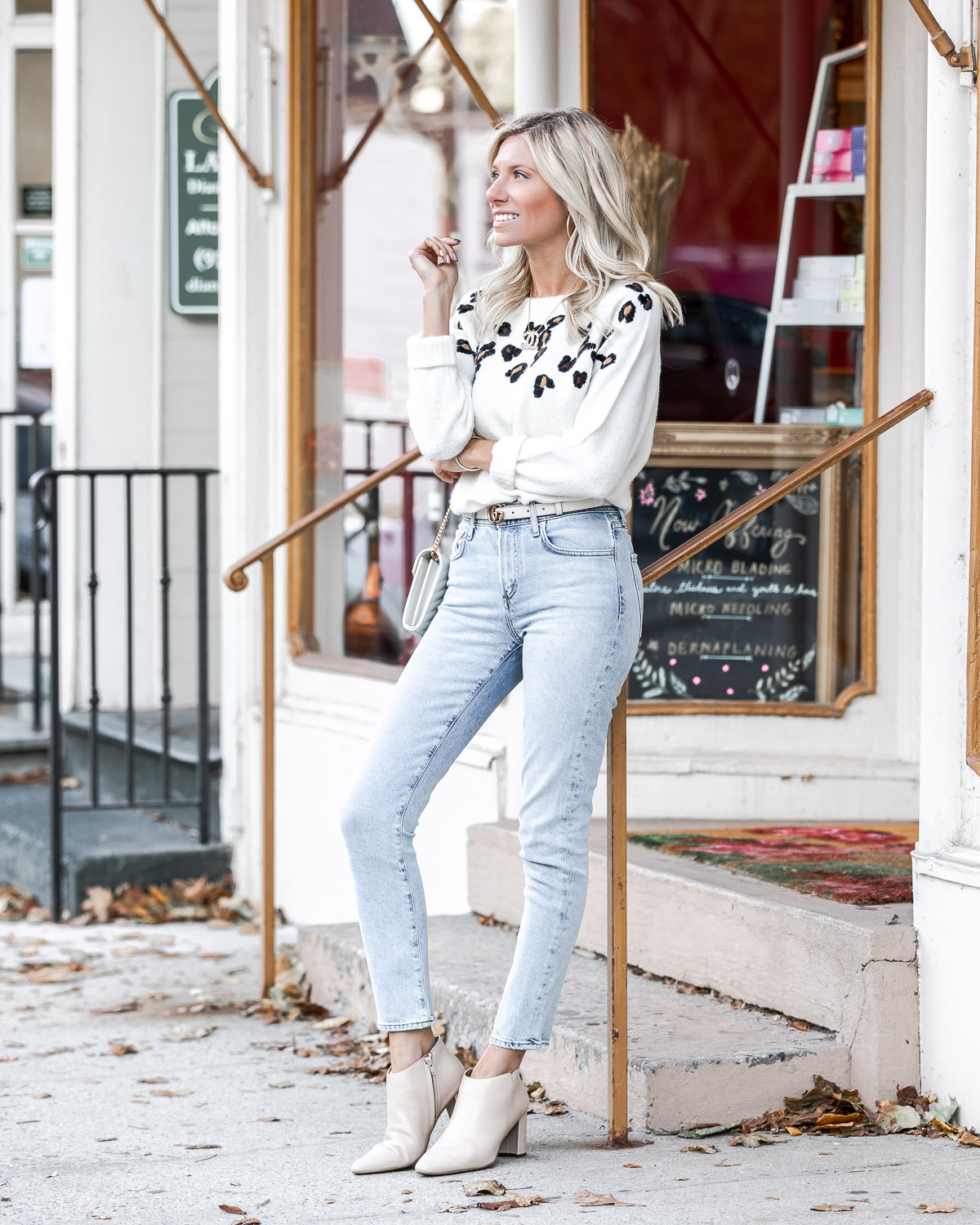 light jeans and white aerosole booites The Glamorous Gal