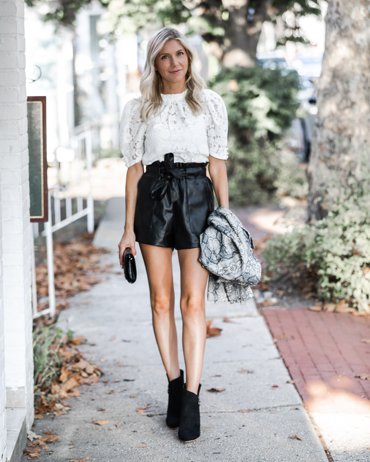 pleather shorts and lace top from vicidolls The Glamorous Gal