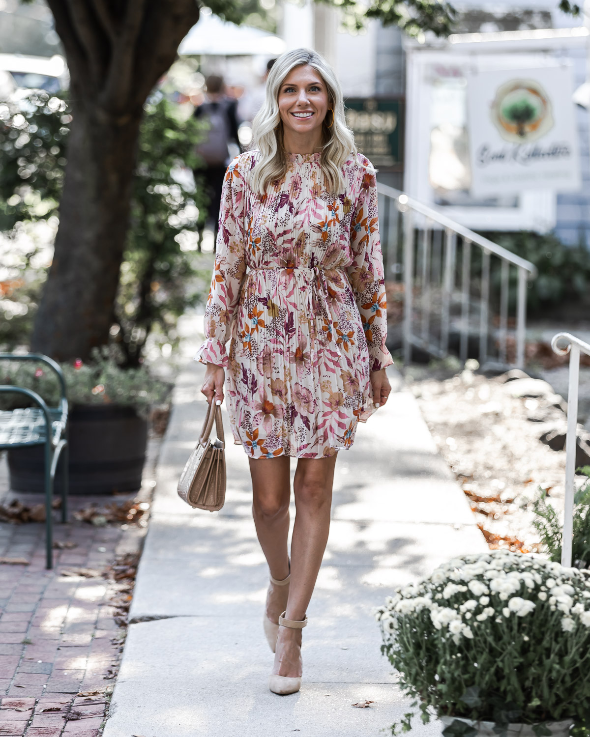 the prettiest floral dress for fall from vicidolls The Glamorous Gal