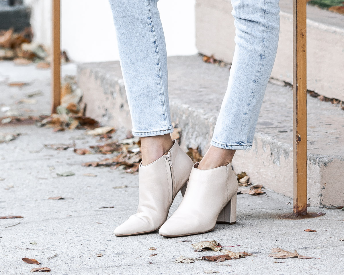 white aerosole booties The Glamorous Gal