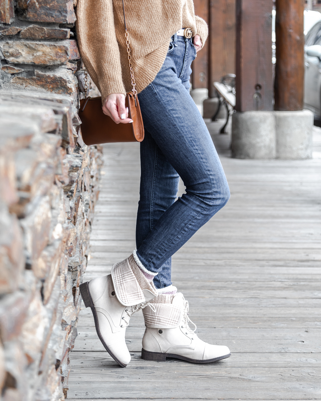 comfortable flat boots The Glamorous Gal