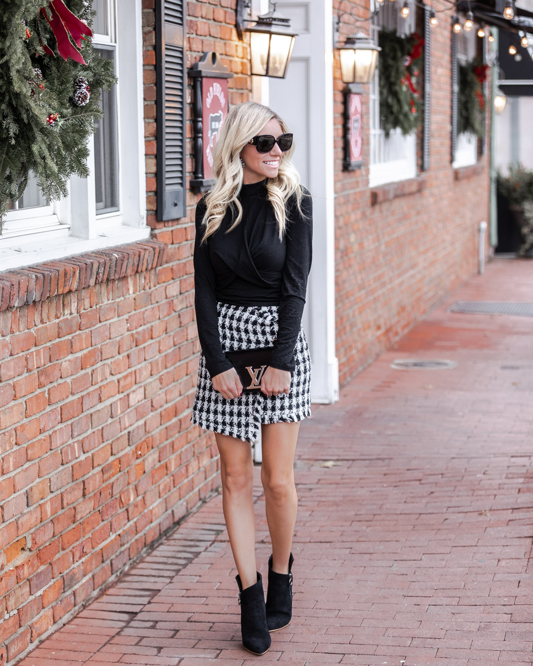 Haverdash Houndstooth Skirt The Glamorous Gal