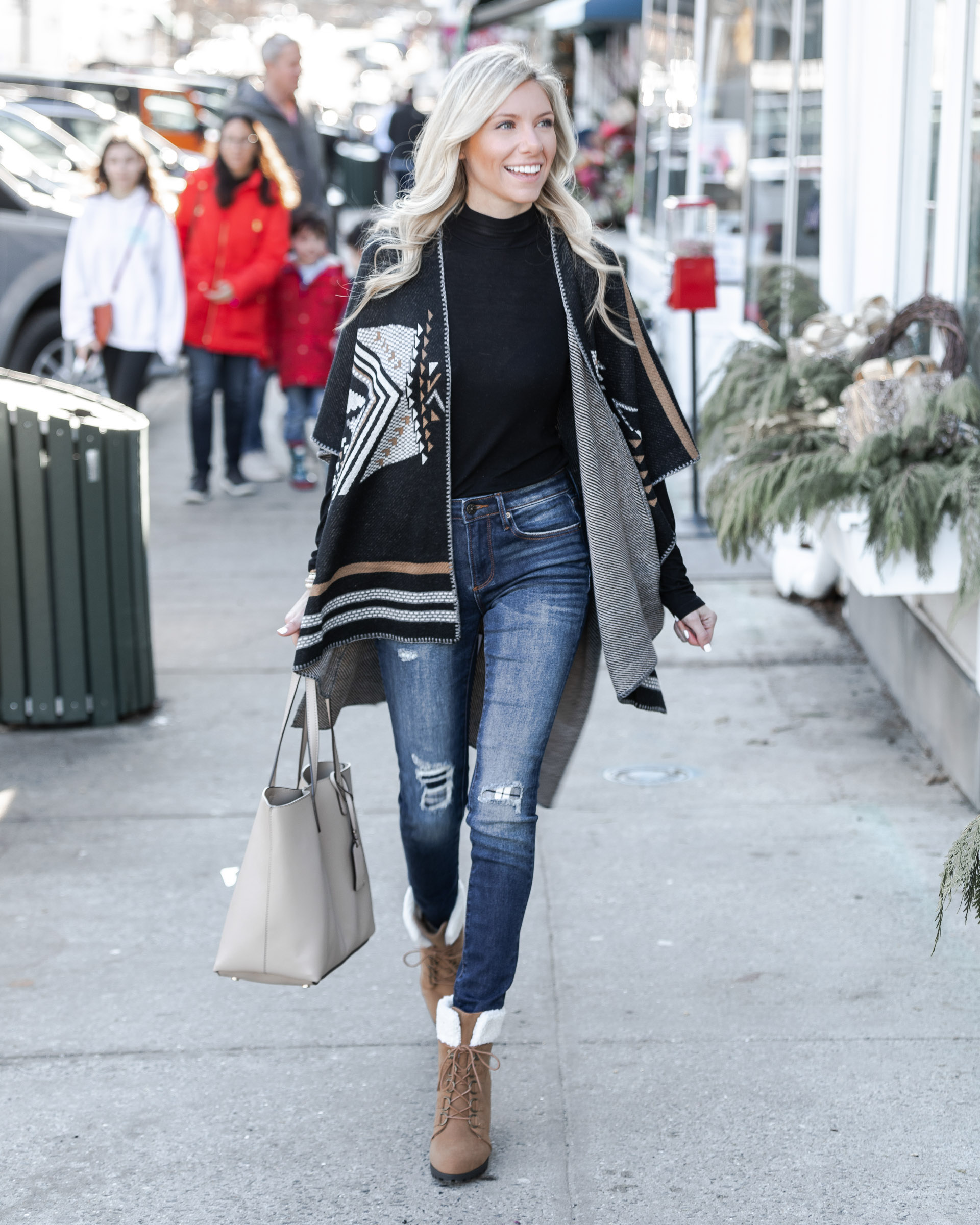cozy cardigan for winter the glamorous gal