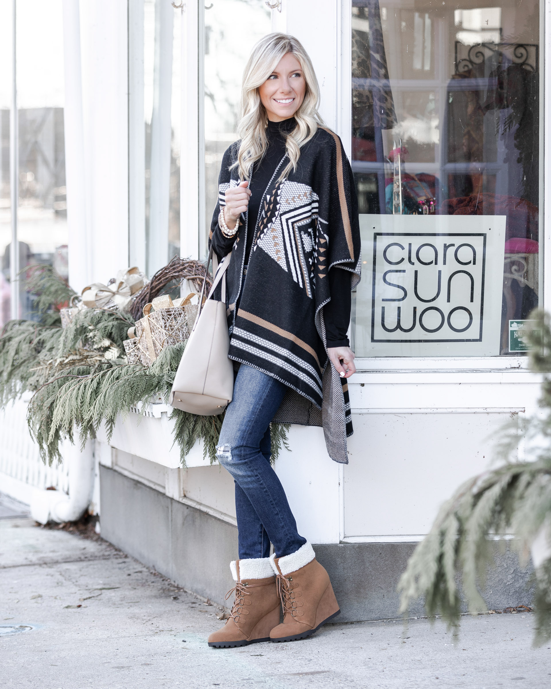 winter boots from just fab the glamorous gal