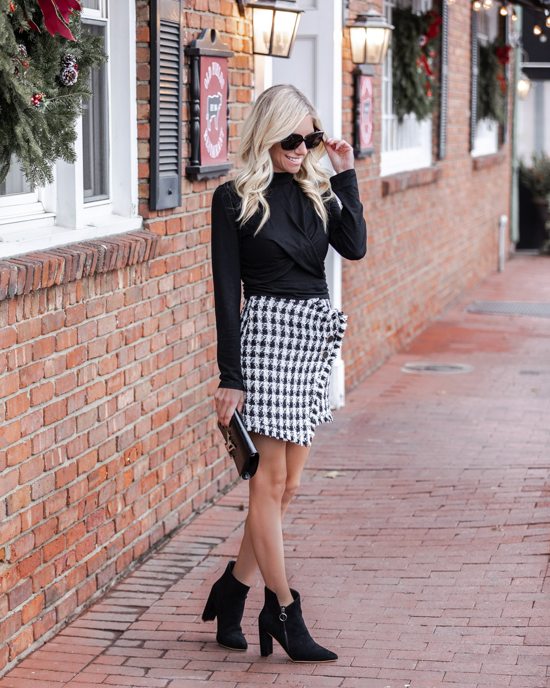 the perfect winter skirt The Glamorous Gal