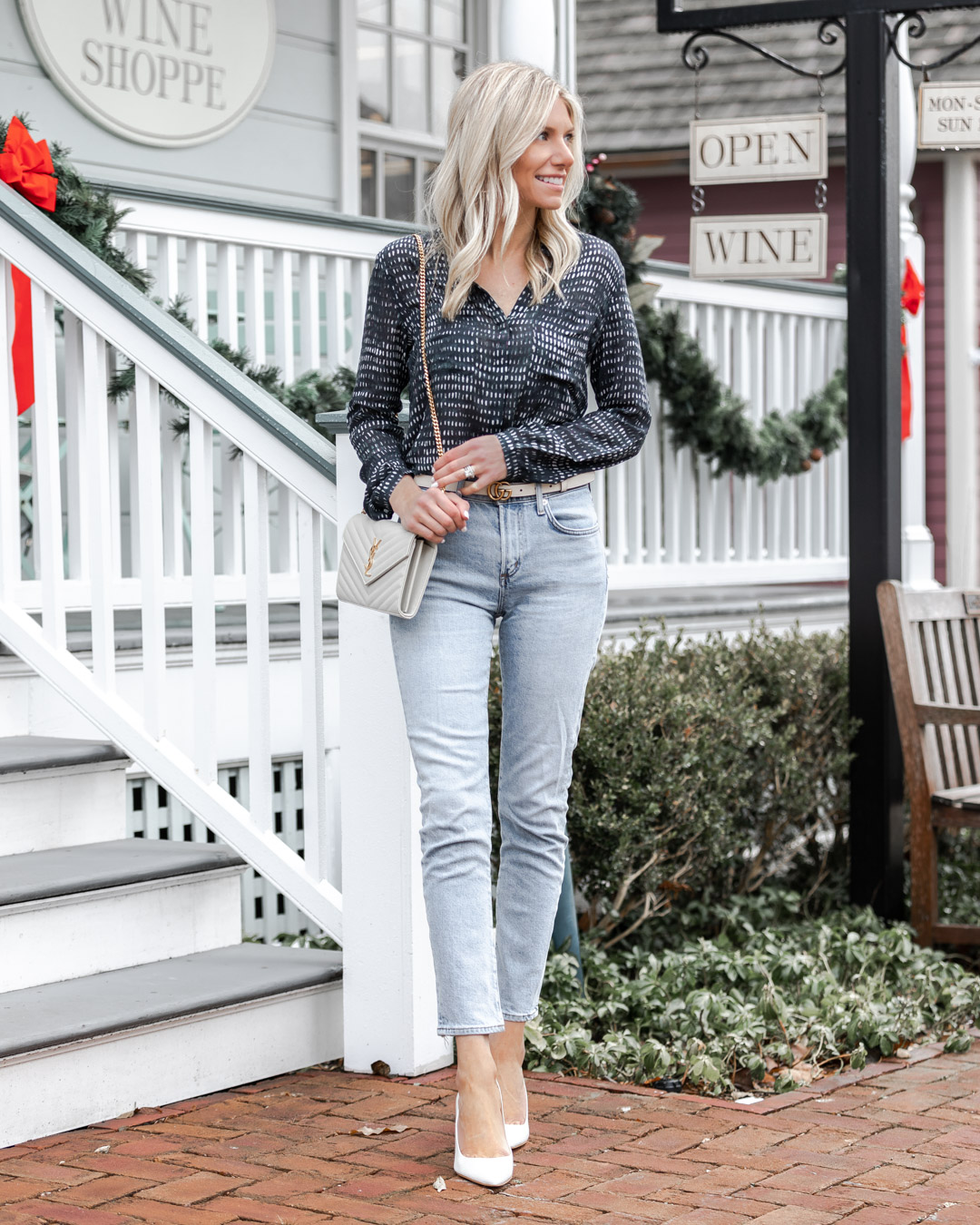 business casual blouse perfect for work The Glamorous Gal