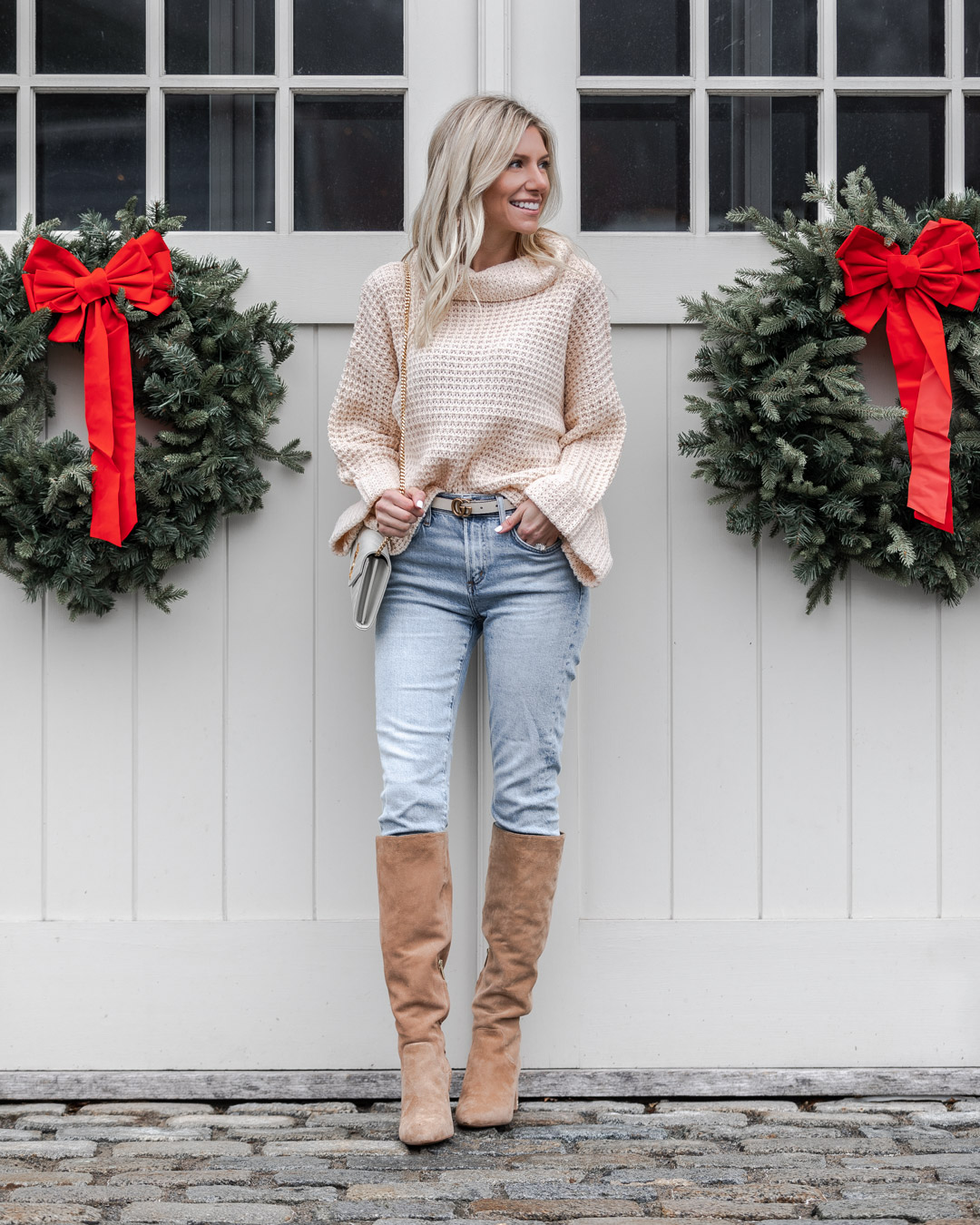 casual and cozy winter outfit The Glamorous Gal
