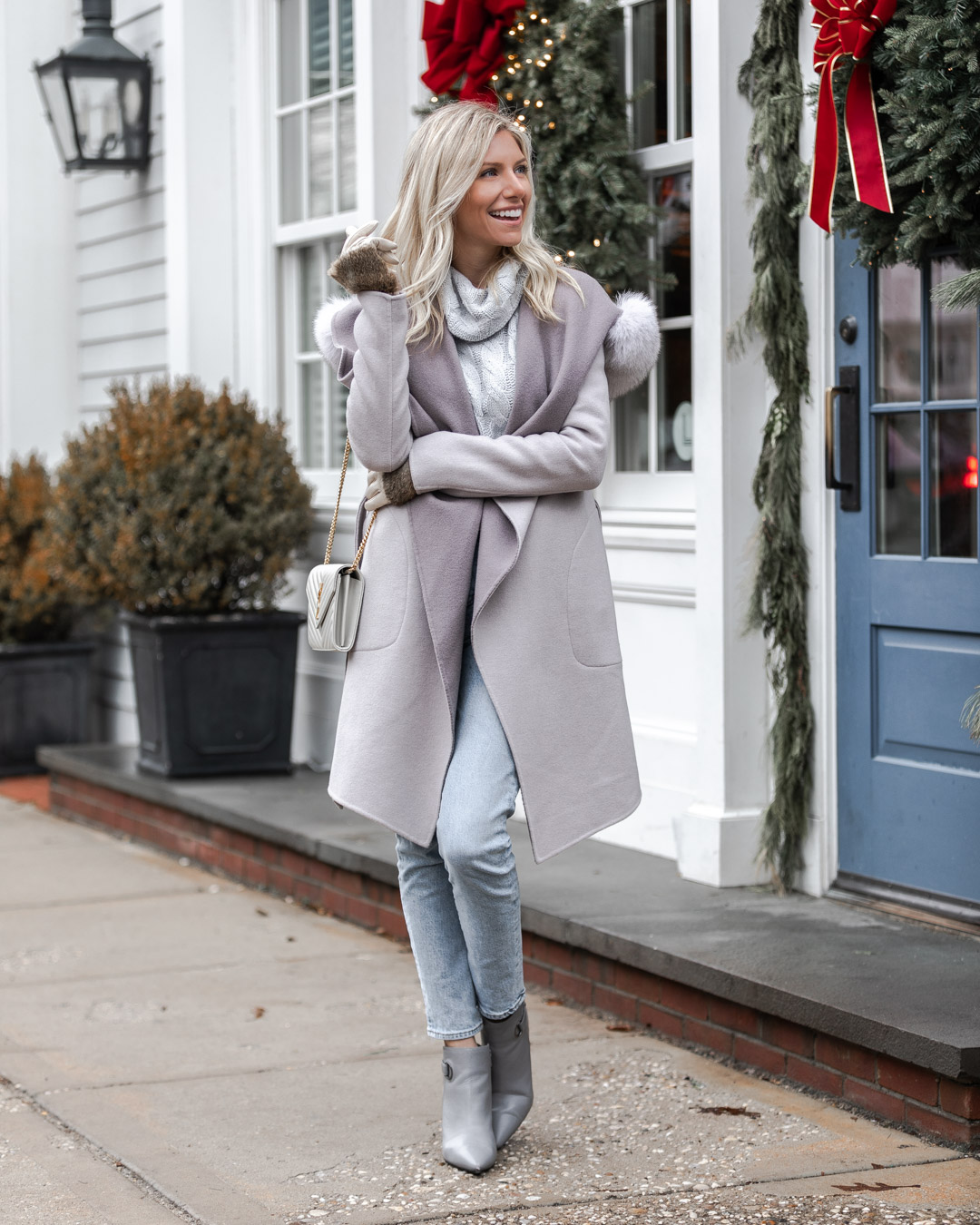 casual gray outfit for winter The Glamorous Gal