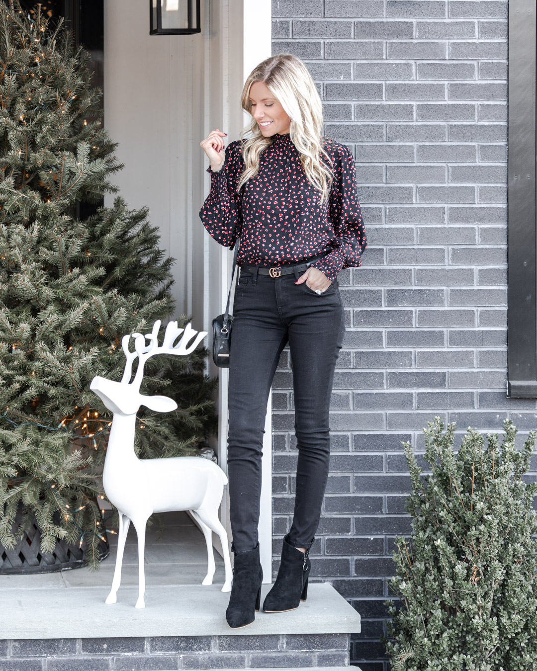 chic desk to dinner blouse The Glamorous Gal