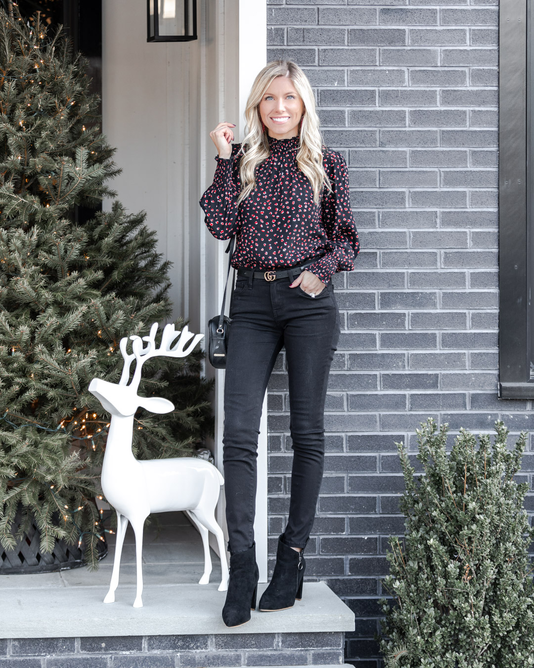chic leopard print top from evereve for work The Glamorous Gal