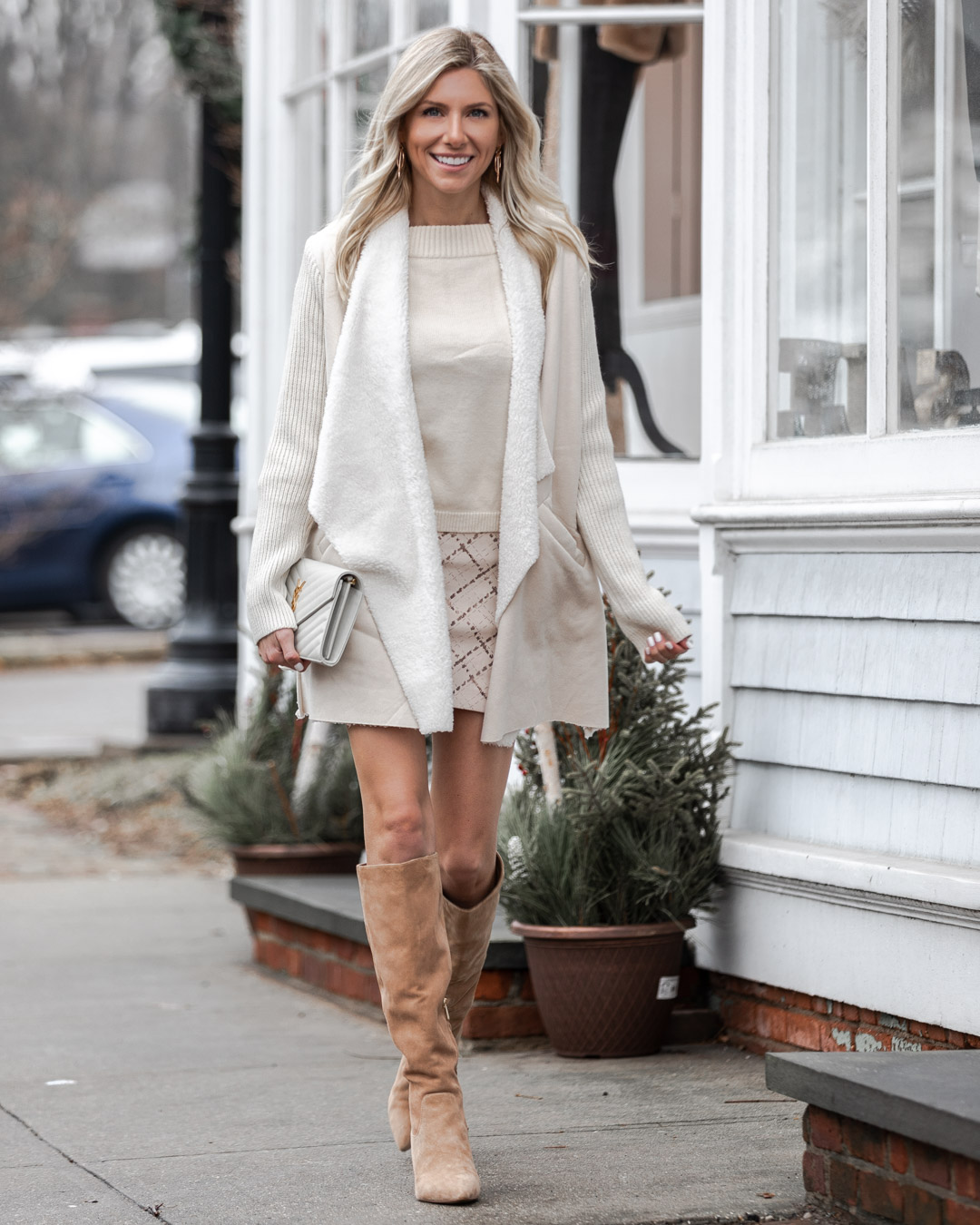 chic winter white look from chicwish The Glamorous Gal