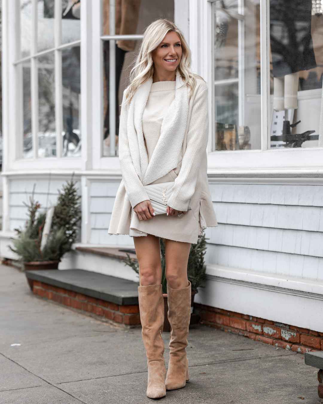 cozy shearling jacket from chicwish The Glamorous Gal