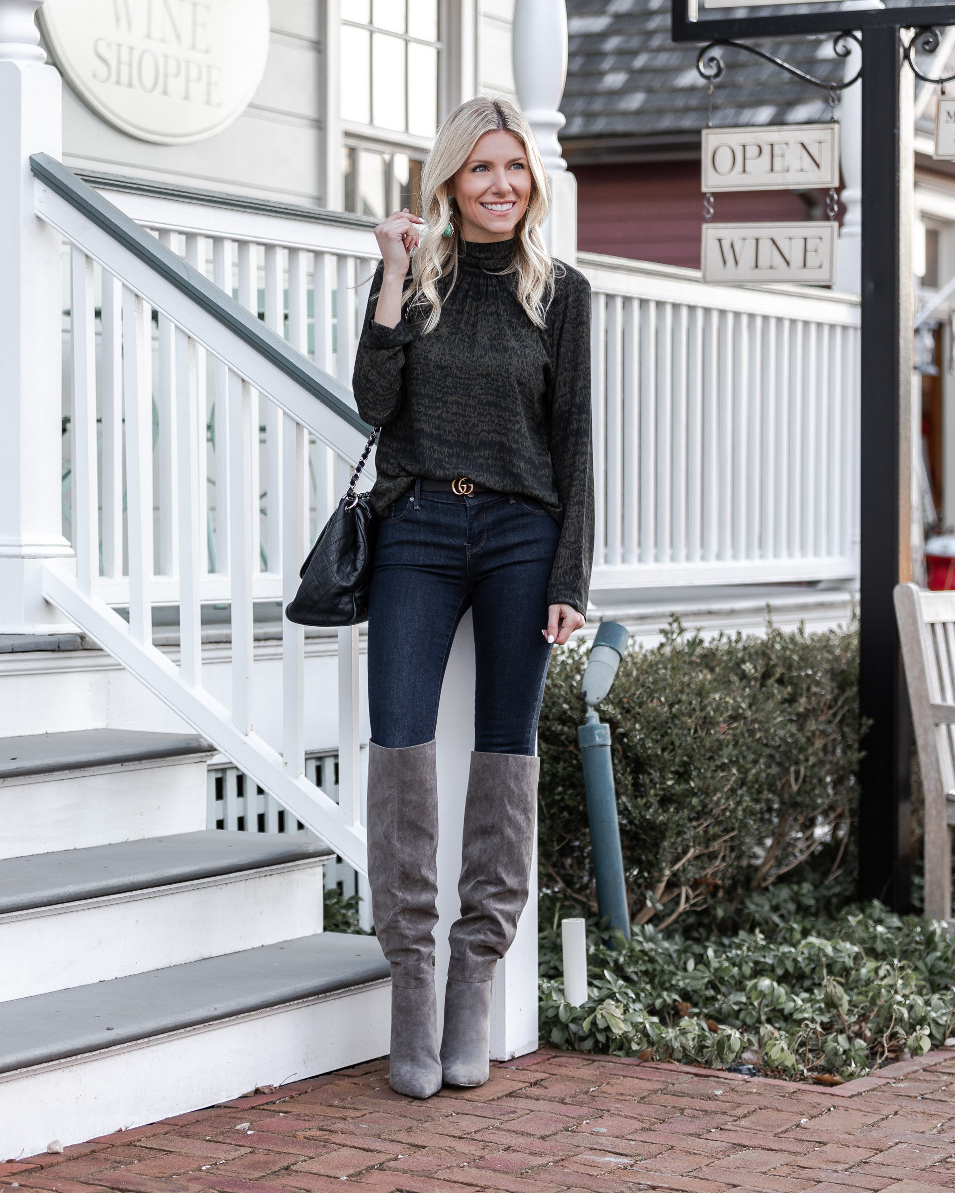 high-neck-blouse-and-over-the-knee-boots-the-glamorous-gal