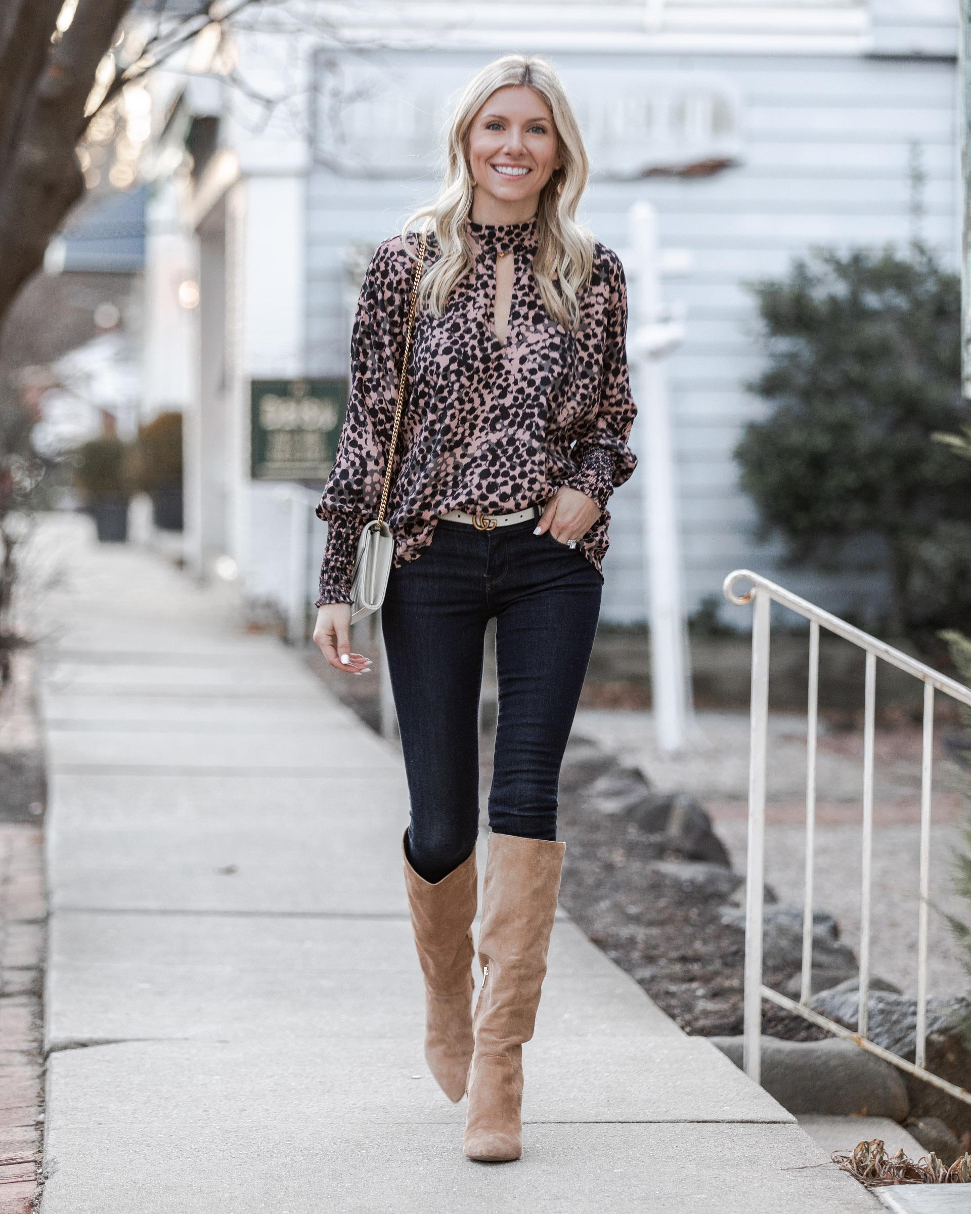 leopard-print-cutout-blouse-the-glamorous-gal