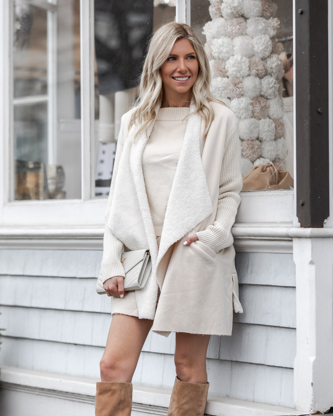 oversized shearling jacket from chicwish The Glamorous Gal