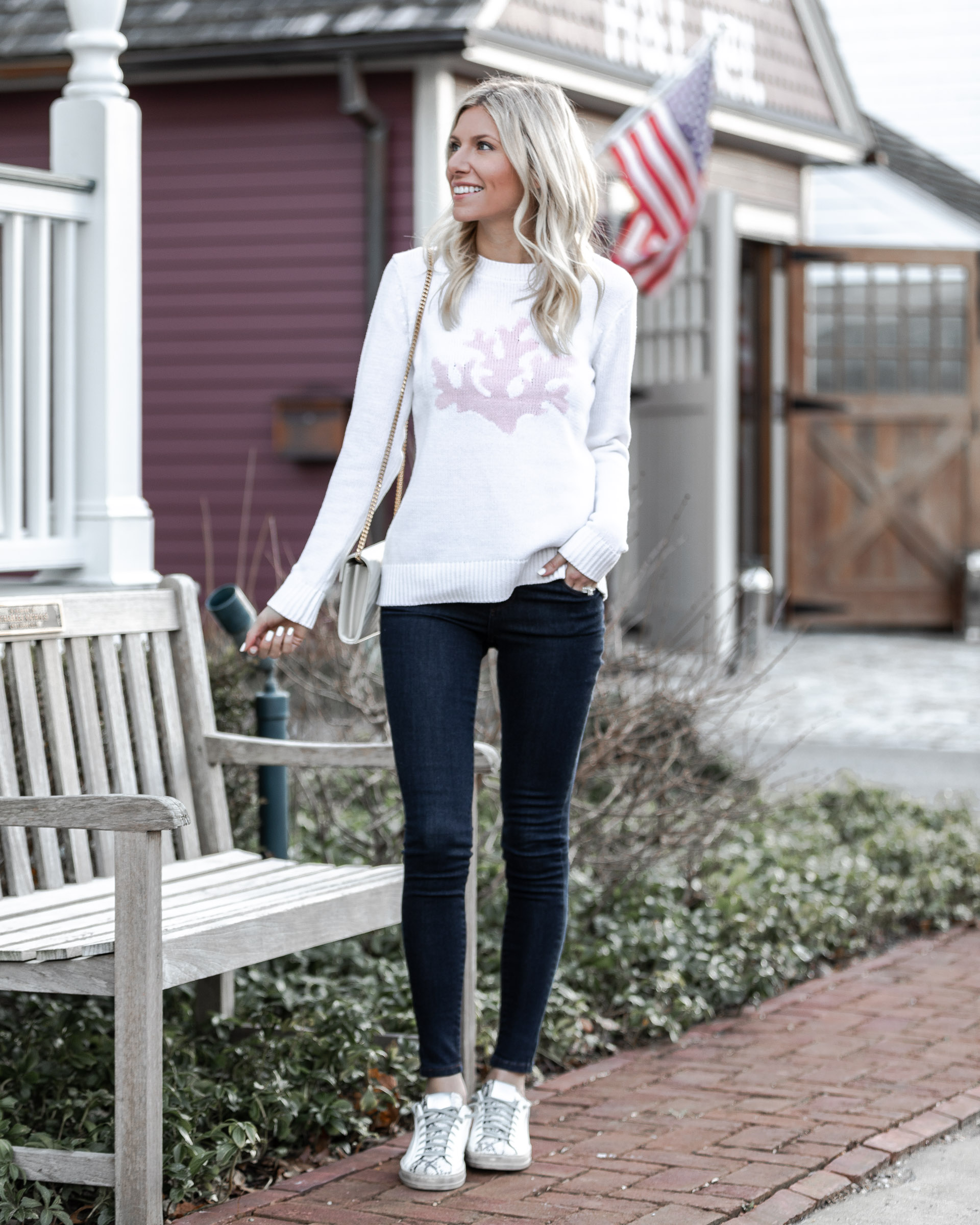sail-to-sable-pink-and-white-coral-sweater-the-glamorous-gal