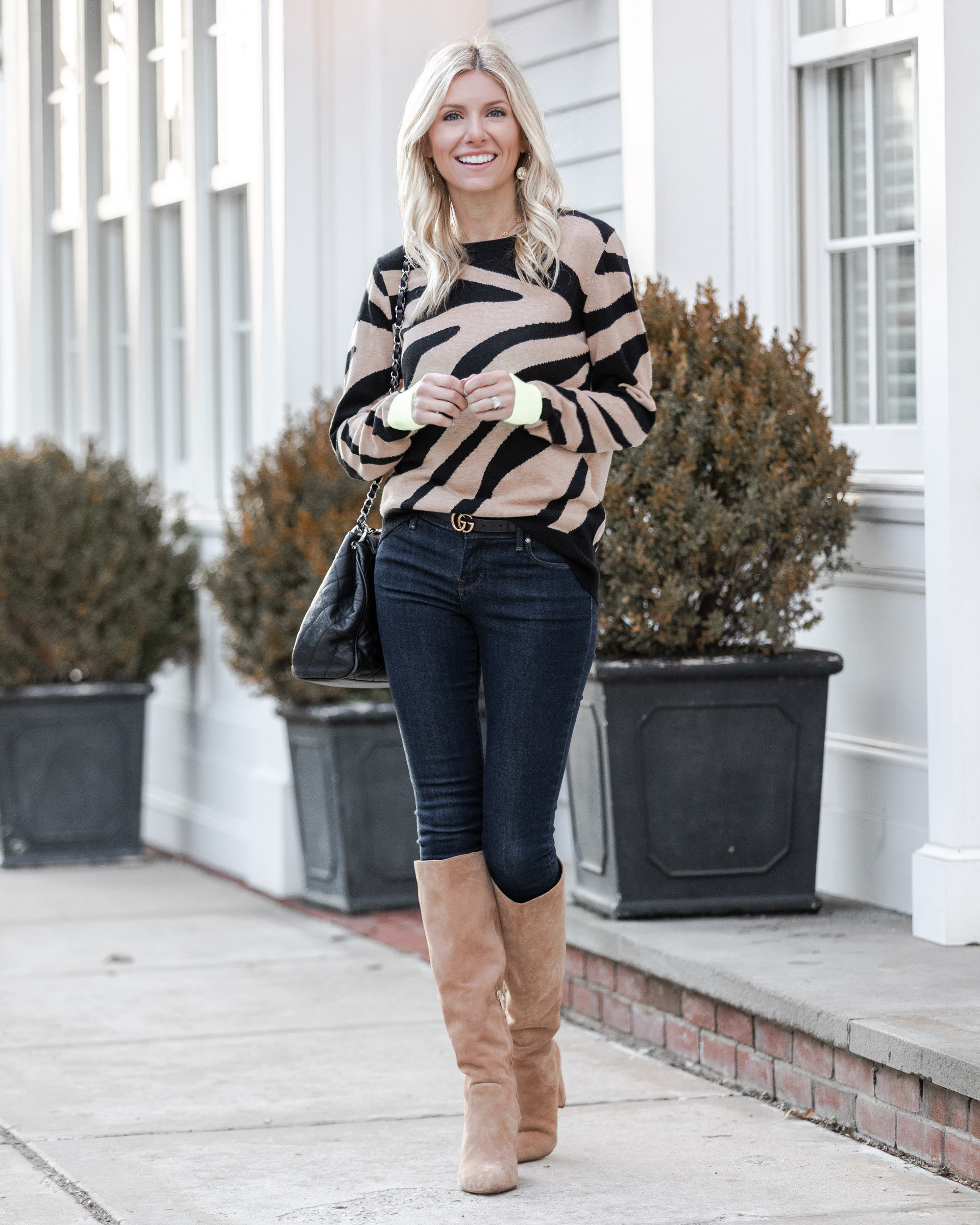 tan-and-black-zebra-sweater-the-glamorous-gal