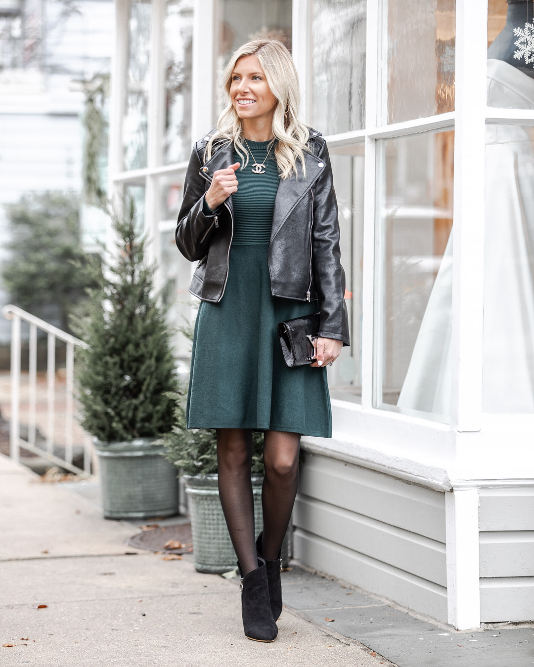 the perfect desk to dinner dress for winter The Glamorous Gal