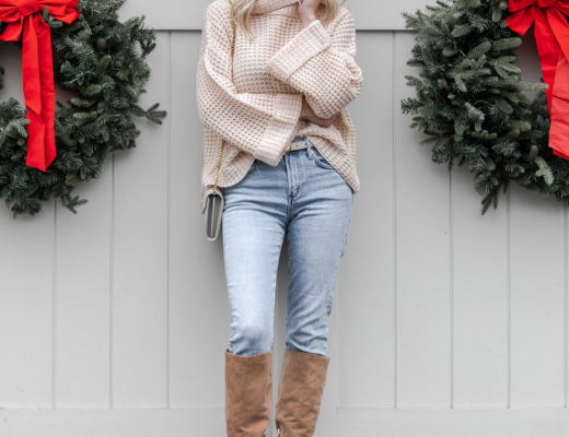 the perfect neutral cold weather outfit The Glamorous Gal