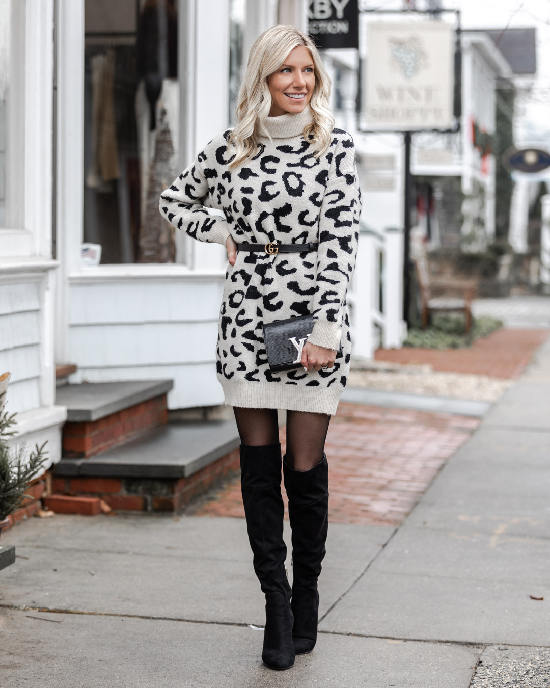 the perfect winter sweater dress The Glamorous Gal